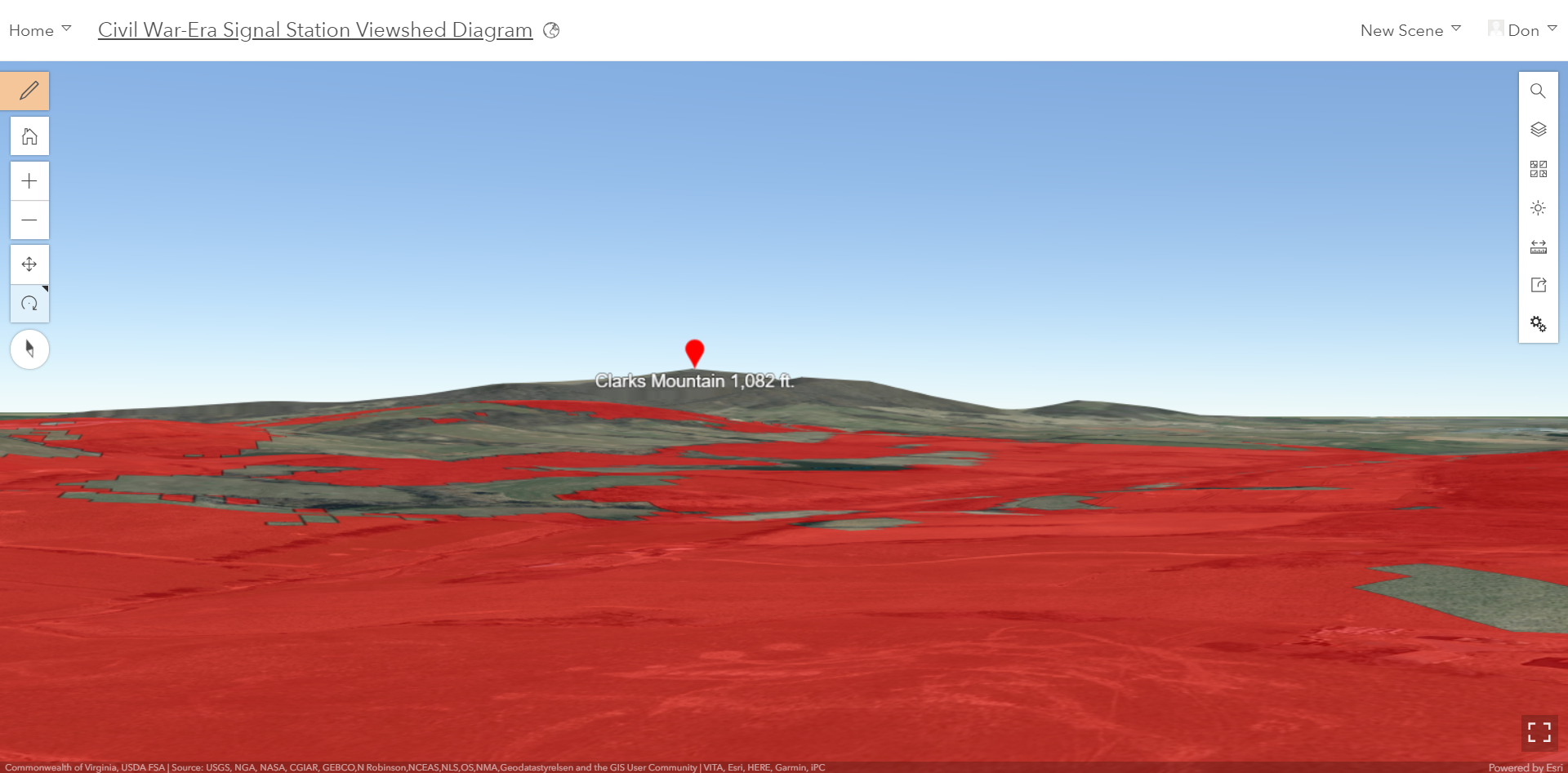 Historical Land Preservation Viewshed Analysis