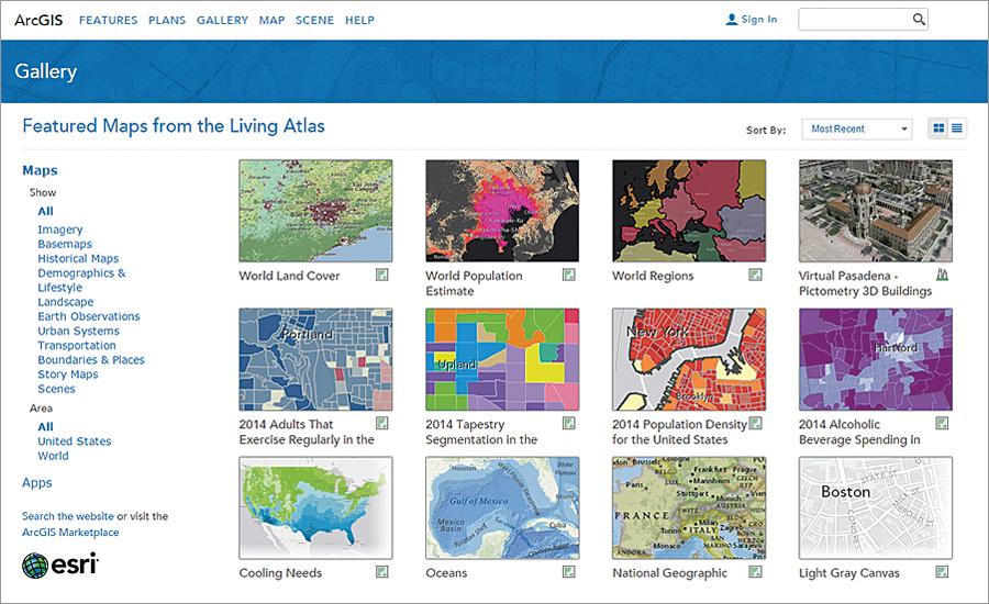 Living atlas for arcgis