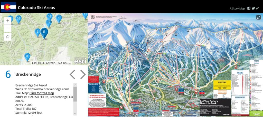 Colorado Ski Resorts Story Map | GeoMarvel