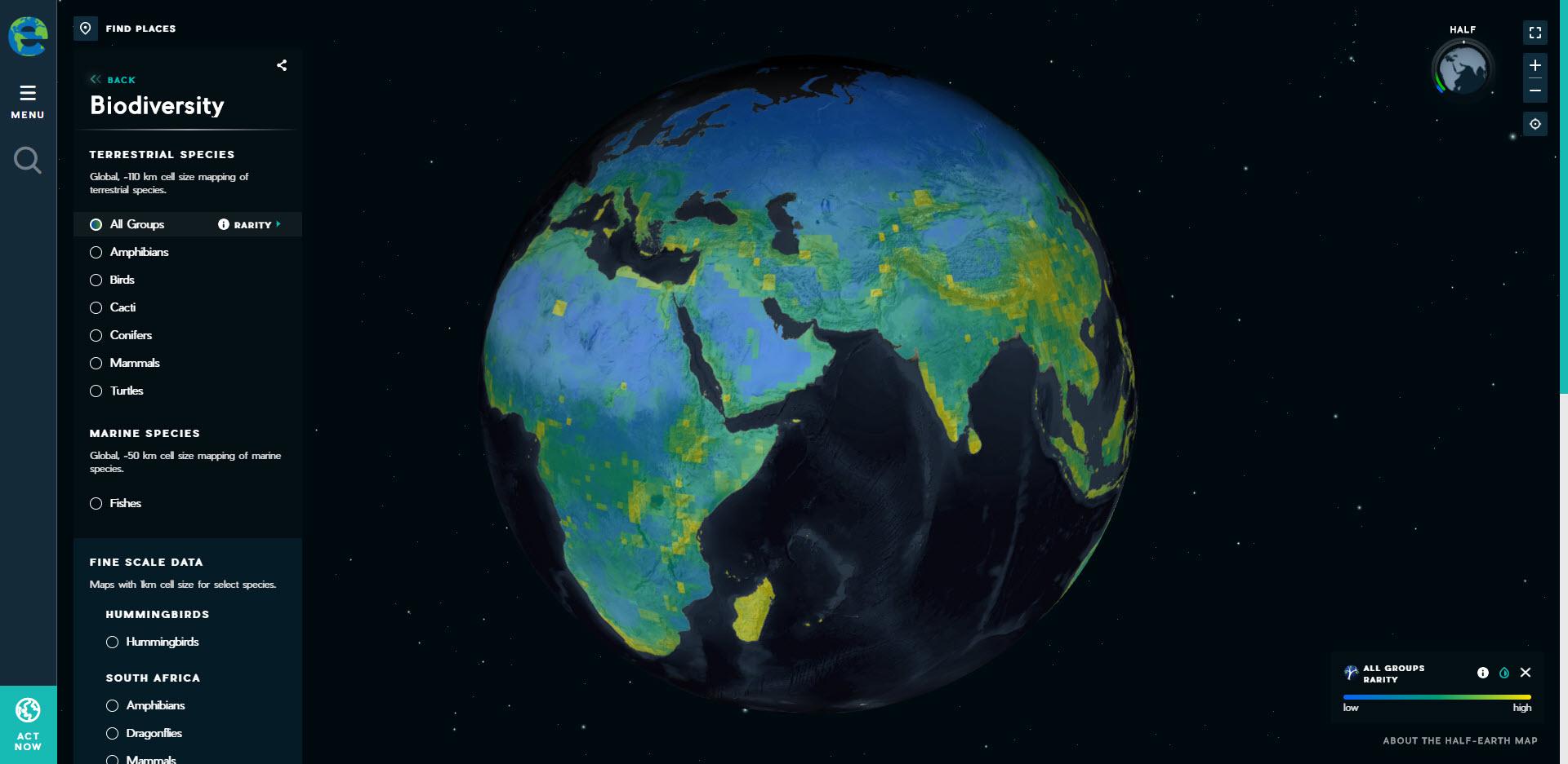 half earth project map   GeoMarvel